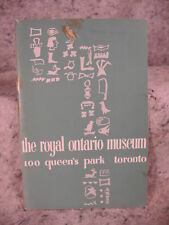 The Royal Ontario Museum a Handbook 100 Queen's Park Toronto. vintage old book