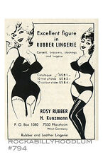 Pin Up Girl Poster 11x17 Vtg Ad Rubber Lingerie Latex Fashion Retro Fetish