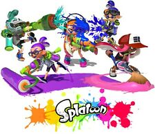 Splatoon CUSTOM TSHIRT Birthday party gift  Nintendo Splat Wii U game  Add name