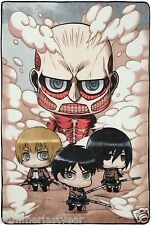 ATTACK ON TITAN CHIBIS WARM AND COZY FLEECE THROW BLANKET FREE SHIP