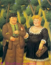 "Art Repro oil painting:""Fernando Botero Portrait at canvas"" 24x36 Inch #027"