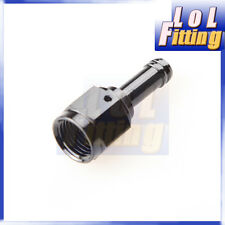 """Straight 6AN AN6 AN-6 Female to 5/16"""" (8mm) Barb Hose Adapter Fitting Black"""