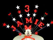 Minnie mouse/mickey mouse décoration de topper gâteau anniversaire