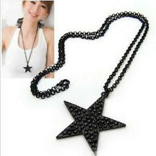 Jewelry wholesale black star five-pointed star long necklace sweater chain