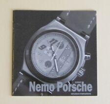 Anonimo Opera Meccana Nemo Porsche Club 11000 Instruction User Manual Book