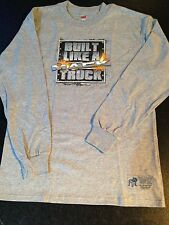 BNWOT Boys Sz 14-16 Genuine Mack Cool Grey Built Like A Mack Long Sleeve Top