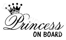 Big Princess On Board Sticker Decal Window Car Bike Kids FREE POST ref 132