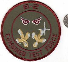 US AIR FORCE B-2 COMBINED TEST FORCE Squadron Patch Stealth Bomber Test Pilot