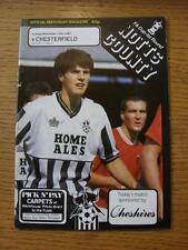 15/11/1987 Notts County v Chesterfield [FA Cup] (No Apparent Faults)