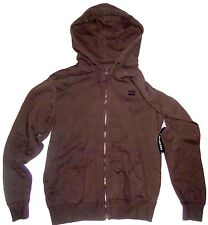 NEW Men's Billabong Amplified Full Zip Hoodie Jacket Clover Brown Size Small S