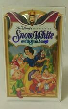 Walt Disney Snow White And The Seven Dwarfs Clamshell VHS Masterpiece Collection