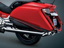 Kuryakyn Black Red LED Saddlebag Accent Swoops Cover Trim Honda Goldwing F6B GL