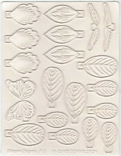 Cake Decorating Sugar Dipper Silicone Veining Mat - 3 Orchid, Leaf, Dragonfly