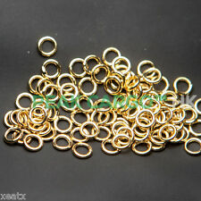140 PCS 14K Gold Plated Brass Core Soldered Jump Rings Closed Clasp Jewelry 5/32