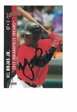 2015 Indianapolis Indians Mel Rojas Jr. Pittsburgh Pirates Authentic Autograph