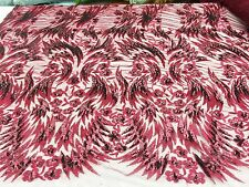 Fashion Designer's Sequined Lace Fabric on Polyester Mesh