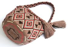 AUTHENTIC MOCHILA WAYUU / SMALL SIZE / FINEST QUALITY / HANDMADE BAG