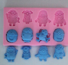 3D Minions Silicone Cake Fondant Mould Sugar Craft Mold Cutter Tools DIY