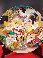 "Kenleys LTD Plate,Disney ""Snow White and the Seven Dwarfs""collector plate 1937[*"
