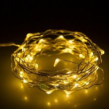 50 LED 5M Copper Wire LED Light Warm White String Fairy Lights Battery Powered