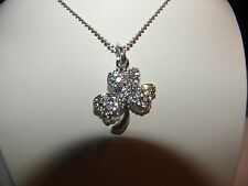 SHAMROCK AUSTRIAN CRYSTAL PENDANT NECKLACE ST.PATRICKS DAY WEAR ALL YEAR