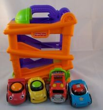 Fisher Price Lil Zoomers Chase n Race Ramps Playset w/ Extra Racers Cars