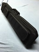 J&J Black Angora Soft Sided 4 Butt 8 Shaft Cue Case 4x8 Butterfly Style