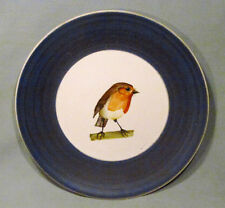 """Guillot France Hand Painted 8"""" Baby Robin Bird Plate"""