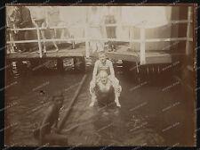 Vintage photo - 1911-dieksee-Bad Malente-aire libre-Boys-nude-baño - traje de baño - 1