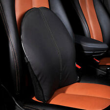 1pcs Black Car Seat Back Support Pad Memory Foam Lumbar Cushion Waist Pillow