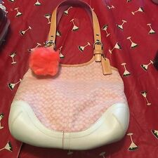 Coach Canvas and Leather Signature C Hobo New Without Tags #7025 Great Small Bag