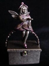 Retired Sweet Romance Jewelry Toothfairy Baby Tooth Keeper Box Rose Silver