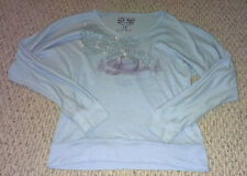 Old Navy sweater with wide scoopneck, baggy sleeves & foil graphics womens M