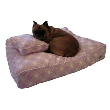 Designer Dog Bed Cover, Free Dog Pillow Cover, Plush, Purple and White Medium