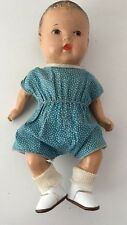 Vintage Composition Baby Doll, 9 1/2 inch With New Shoes Original Clothes
