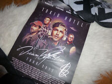 TOKIO HOTEL POSTER, SIGNED, DREAM MACHINE TOUR 2017