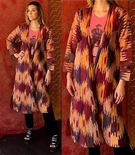 Antique Silk Uzbek Dress Uzbekistan Ikat Silk Caftan Robe 1920s