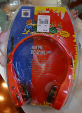 Nintendo Super Mario 64 AM/FM Headphone Radio NEW Factory Sealed Vintage 1998