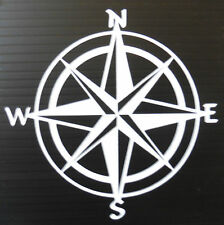 Compass  north south east west stickers/car/van/bumper/window/decal 5305 White