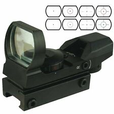 Field Sport Tactical holographic Reflex Red/Green Dot Sight 4 Reticles 20mm Rail