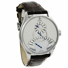 Mira Classic Merveille De L'Espace Retrograde Watch Mother of Pearl Auto M101SSV