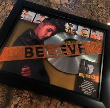 Justin Bieber Believe Platinum Record Album Disc Music Award MTV Grammy RIAA
