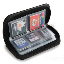 Trendy Sd Mmc Cf Micro Memory Card Storage Carrying Pouch Case Holder Wallet New