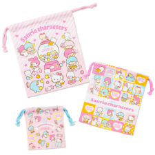 Sanrio Characters Drawstring Bag Set of 3pcs Free Registered Shipping