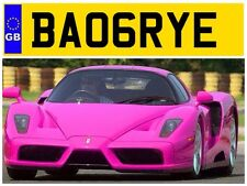 BA06 RYE BARRINGTON BARRY BARRYS BAR BAZ BAZZES PRIVATE NUMBER PLATE BASS RYAN