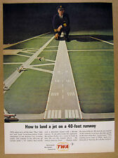 1963 TWA Pilot & Miniature Airport Runway for Flight Simulator vintage print Ad