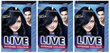 Schwarzkopf LIVE Intense 090 Cosmic Blue Pro Permanent Hair Colour Dye x 3