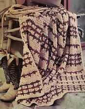 QUICK Reversible Wrap Afghan/Crochet Pattern Instructions