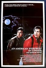 AN AMERICAN WEREWOLF IN LONDON ORIGINAL FOLDED MINT 27X41 MOVIE POSTER LANDIS