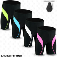 Ladies Cycling Shorts Coolmax Padding MTB Off Road Cycle Bicycle Short S-M-L-XL